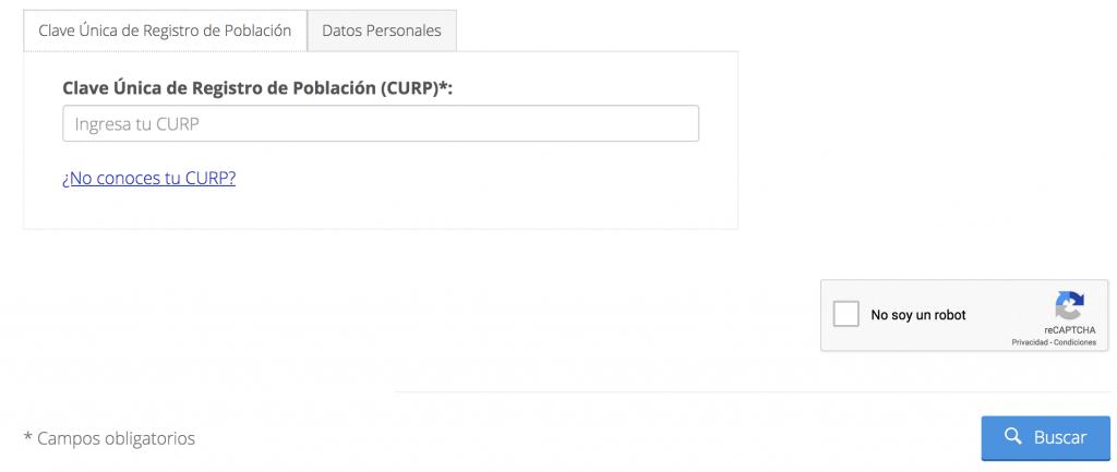 Descargar tu CURP en internet