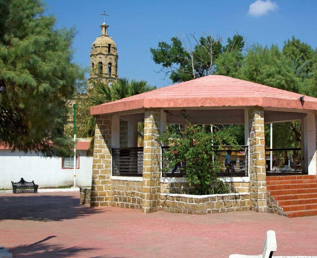 Vista del kiosko en Melchor Múzquiz